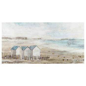 Beach Houses Oil Painted Canvas