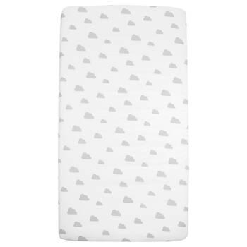 Drap-housse pour lit de bébé avec nuages