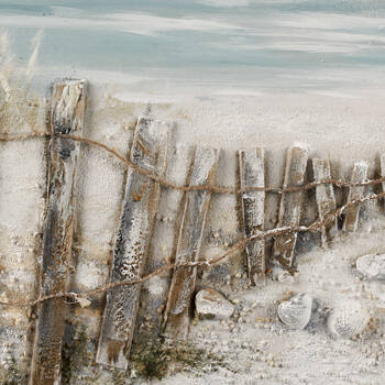 Oil Painted Path to the Beach