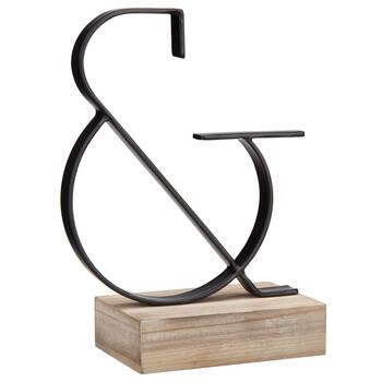 Esperluette décorative en métal et en bois