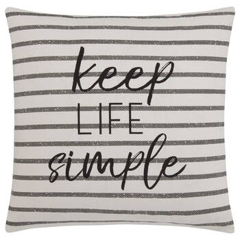 "Keep Life Simple Decorative Pillow Cover 18"" x 18"""