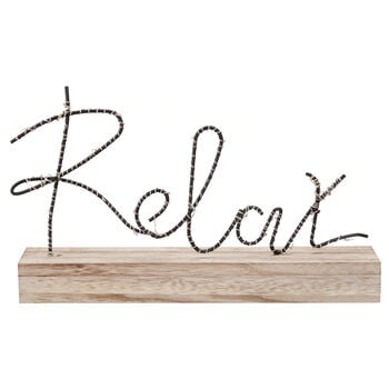 LED Decorative Word Relax