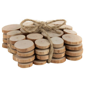 Set of 4 Small Wood Slices Coasters