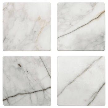 Set of 4 Square Marble Coasters