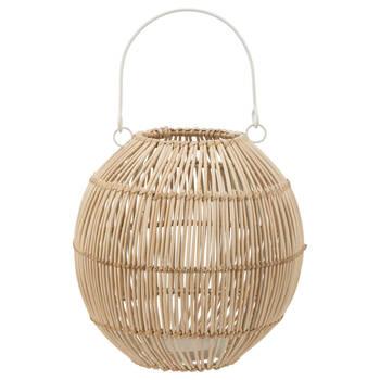 Iron and Bamboo Lantern Candle Holder