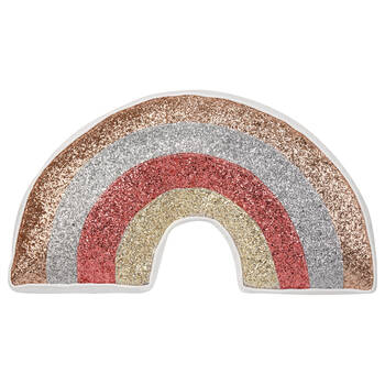 "Decorative Sequined Rainbow Pillow 20"" X 10"""