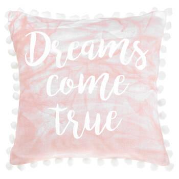 "Noomalie Decorative Pillow with Pom-Poms 18"" X 18"""