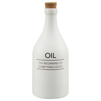 Bouteille pour huile en céramique