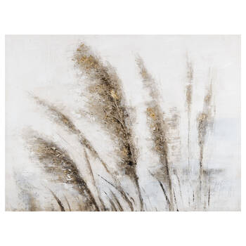 Oil-Painted Wheat Field Canvas