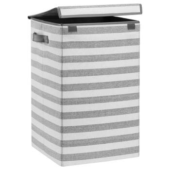 Striped Foldable Hamper