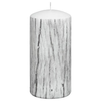 Wood Patterned Pillar Candle