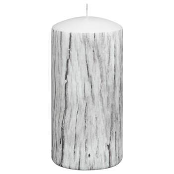 Petite chandelle pilier à motif de bois