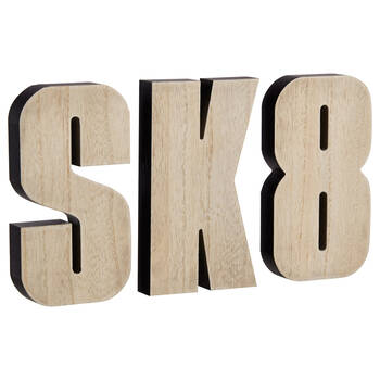 Wooden Decorative Word SK8