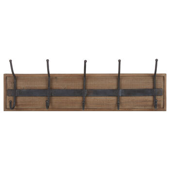 Ensemble de 5 crochets sur planche de bois