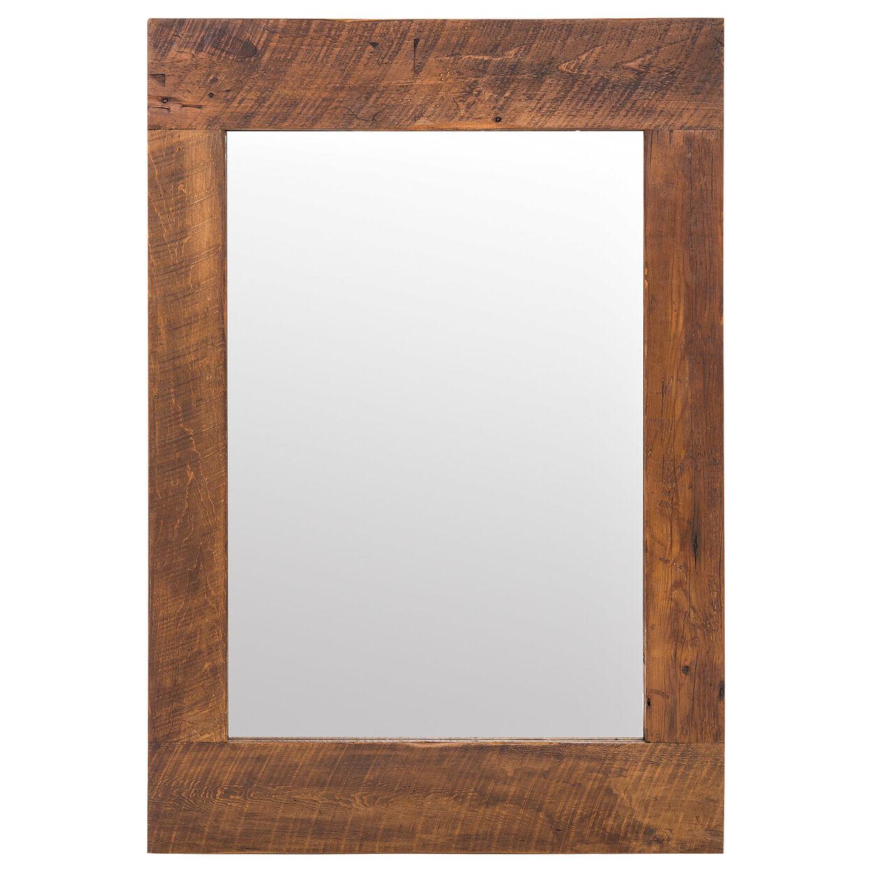 Miroir avec cadre en bois rustique