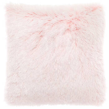 "Furry Tipped Decorative Pillow 17"" X 17"""