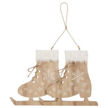 Wooden Skates Ornament