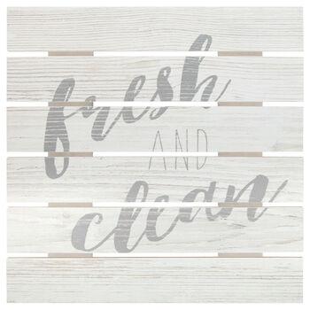 Fresh and Clean Wood Wall Art