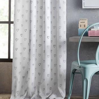 Heart Panel Curtain