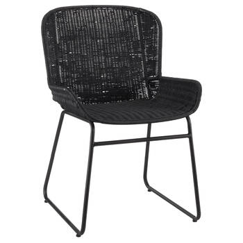 Rattan and Metal Dining Chair