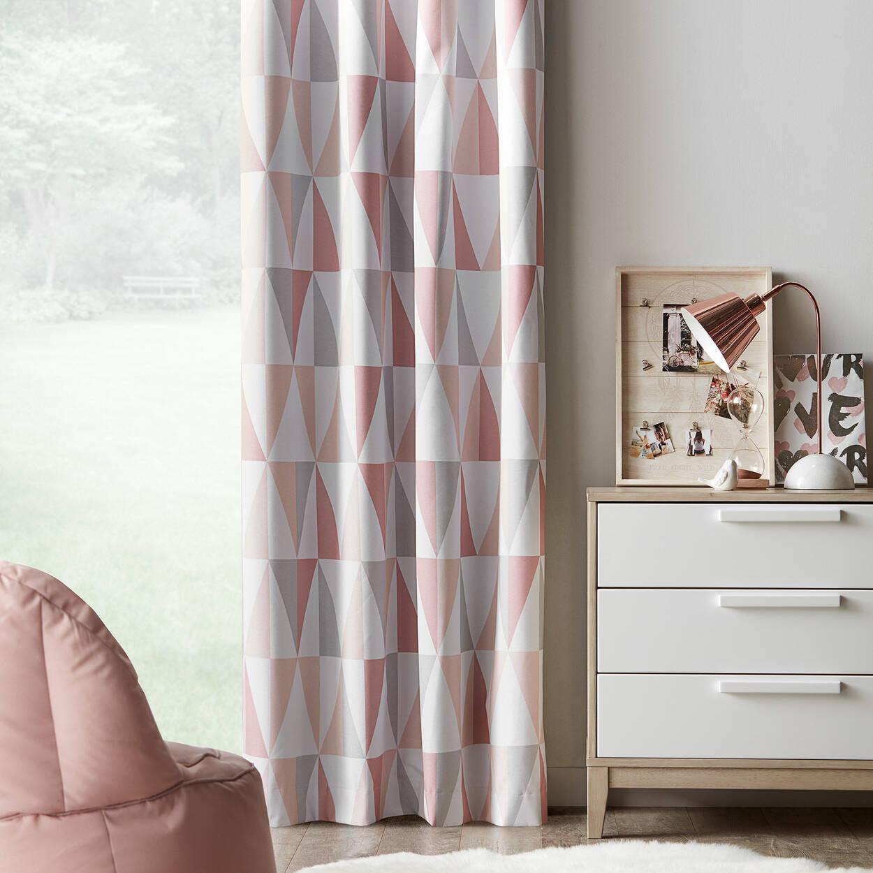 rideau coupe lumi re motif g om trique trekant. Black Bedroom Furniture Sets. Home Design Ideas
