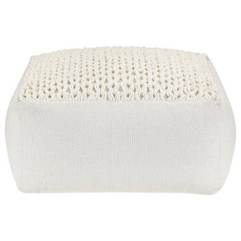 Cotton Ottoman With Knitted Top