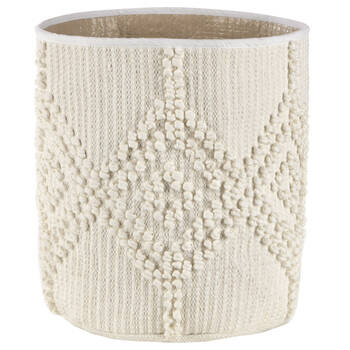 Off-White Macrame Cotton Hamper