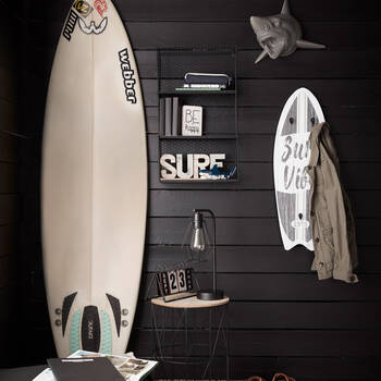 Surf Board with Hooks