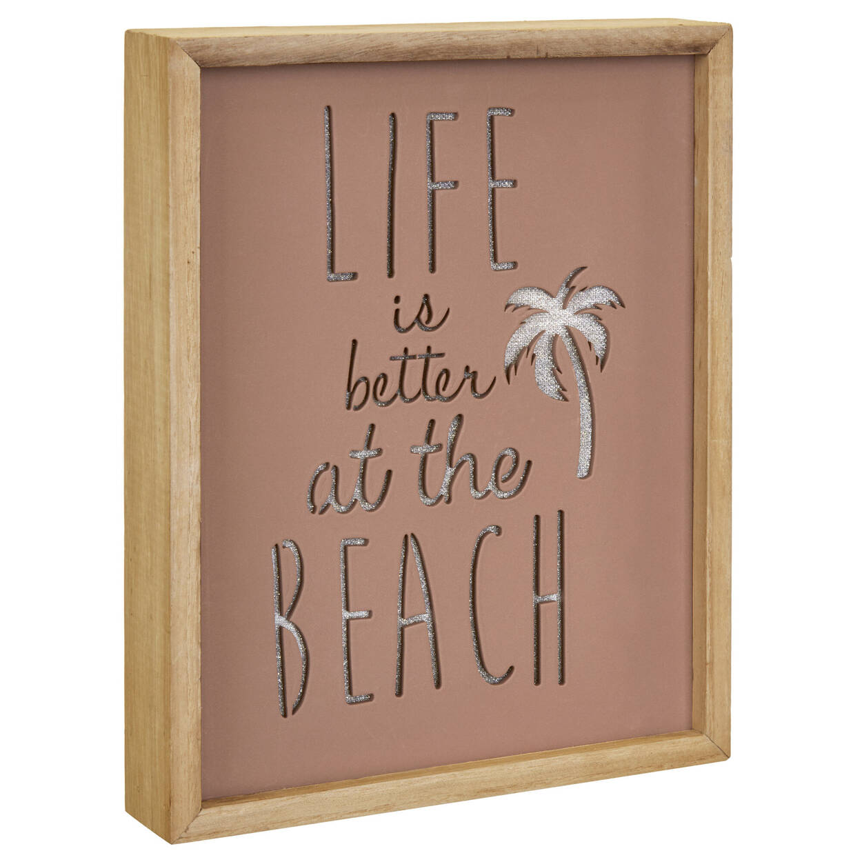 "Cadre illuminé ""Life at the Beach"""