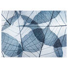 Tableau imprimé feuilles bleu marine