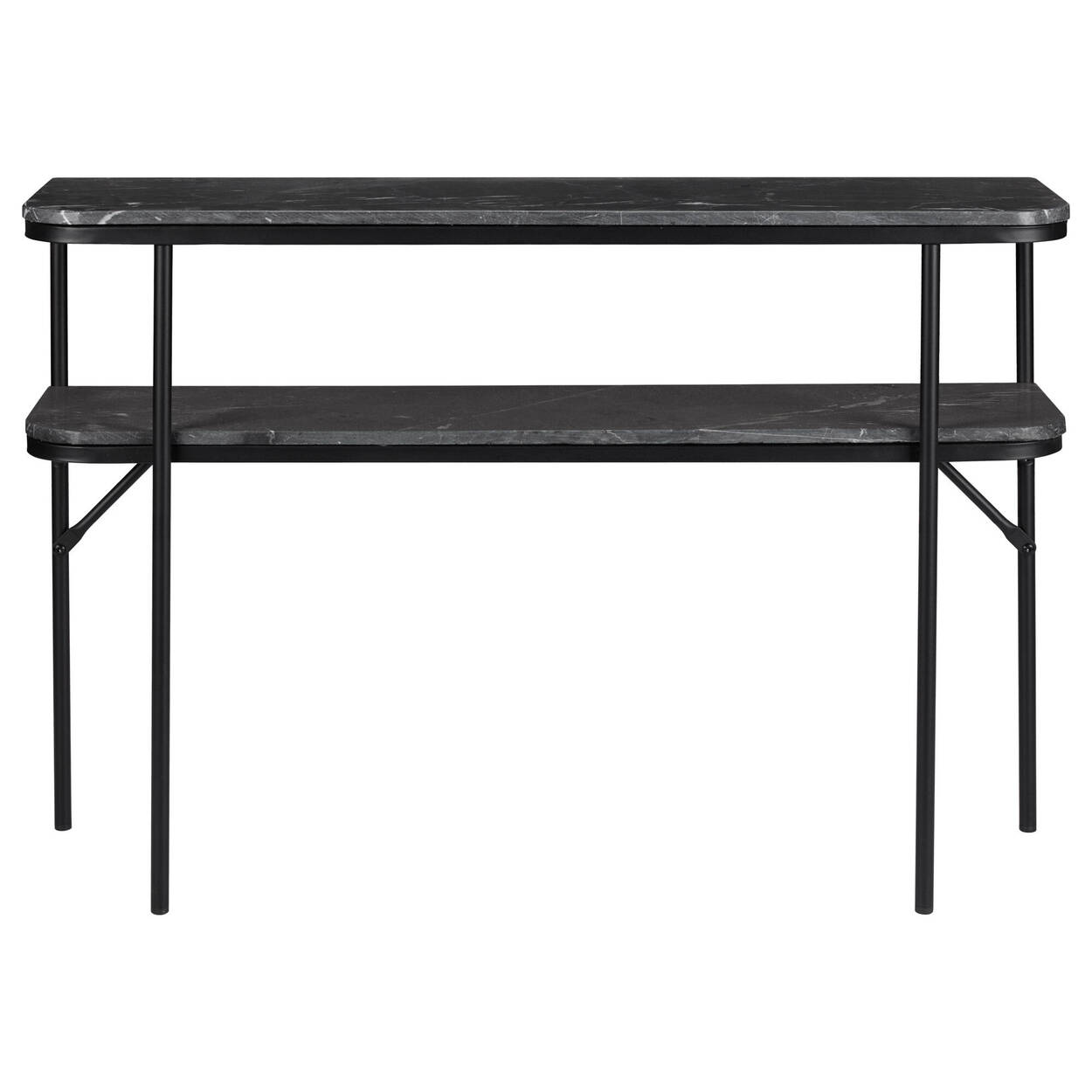 Marble and Metal 2-Level Console