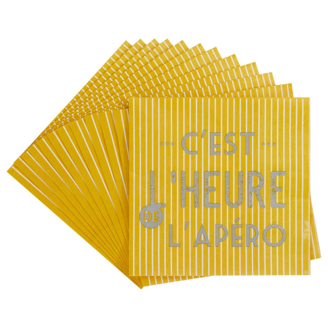 Pack of 20 Apéro Paper Napkins