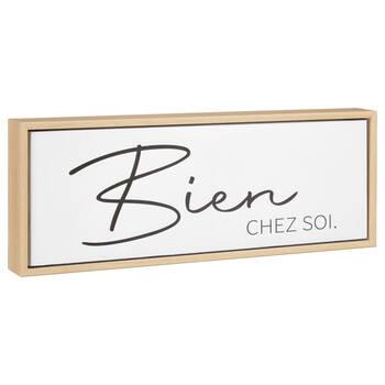 Bien Chez Soi Typography Framed Canvas