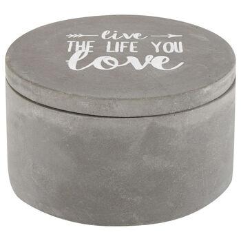 Round Cement Decorative Box