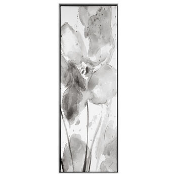 Gel Embellished Abstract Floral Framed Art