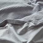 Housse de couette à texture gaufrée bleue Collin