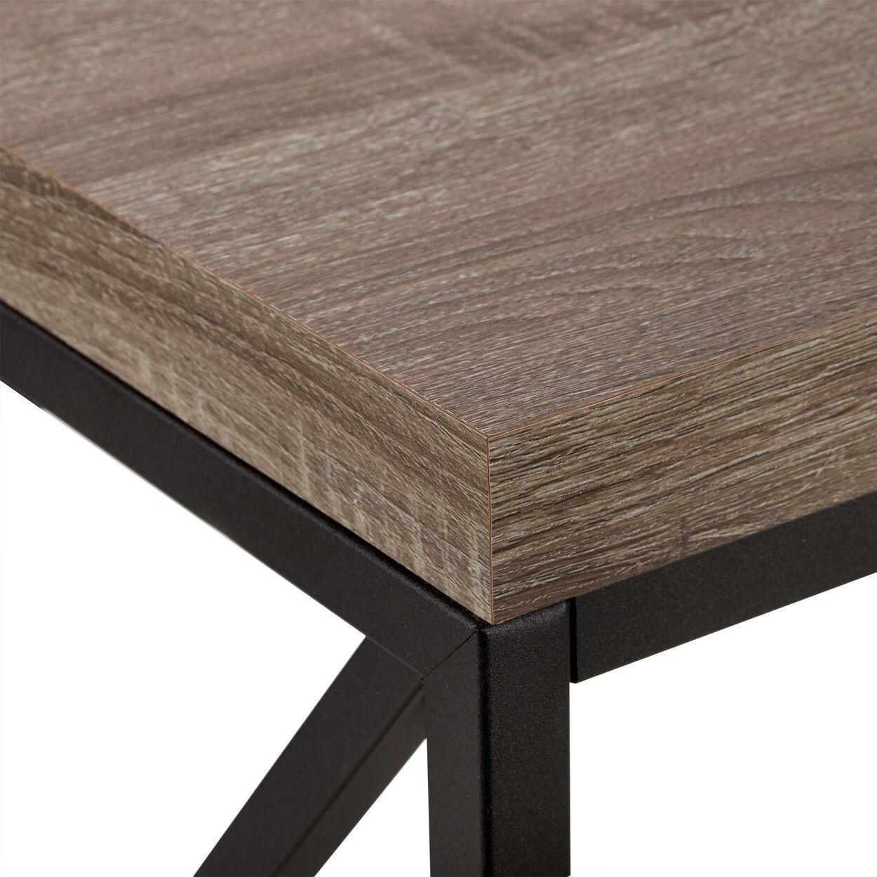 Wood Veneer & Metal Desk