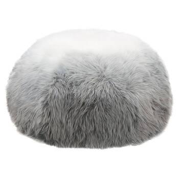 Ombré Faux Fur Ottoman