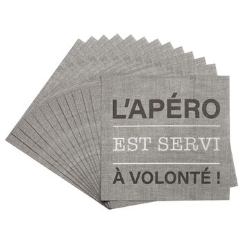 Pack of 20 Apéro Paper Napkins