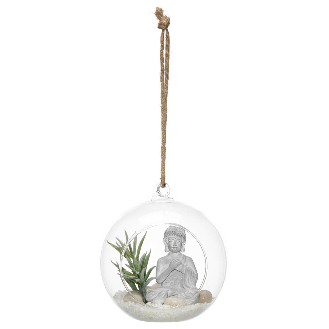 Terrarium suspendu avec Buddha