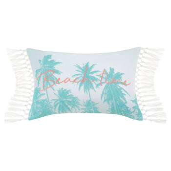 "Beach Time Decorative Lumbar Pillow 13"" x 20"""