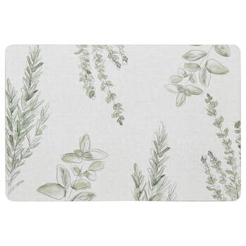 Wooden Herbs Placemat