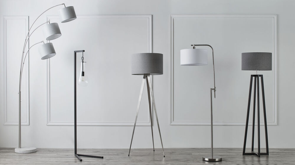 3-Head Floor Lamp with Marble Base
