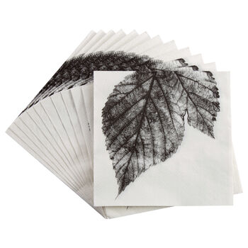 Set of 20 Leaf Table Napkins