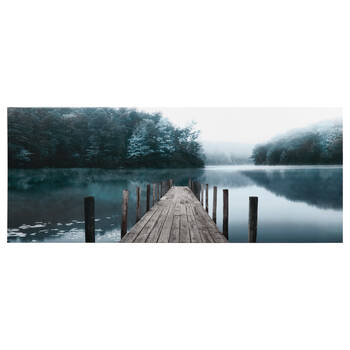 Teal Pier Printed Canvas