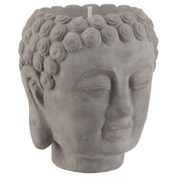 Grey Cement Buddha Candle Holder