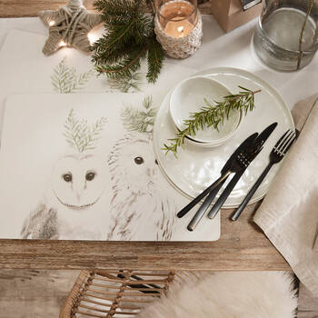 Wooden Owls Placemat