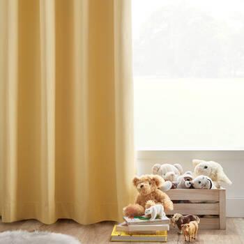 Linen-Like Blackout Curtain