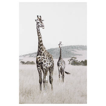 Tableau imprimé girafe