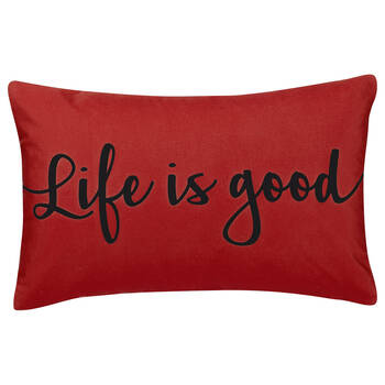 "Life Water-Repellent Decorative Lumbar Pillow 13"" X 20"""